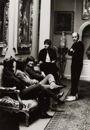 NPG x137678; The Beatles with Richard Lester by Michael Peto